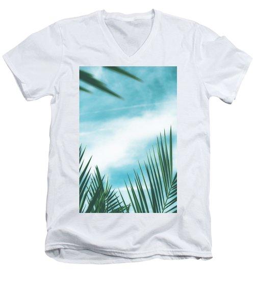 Vintage Palms II Men's V-Neck T-Shirt