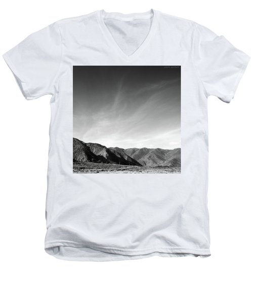 Wainui Hills Squared In Black And White Men's V-Neck T-Shirt