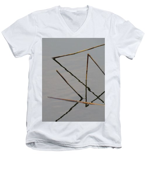 Men's V-Neck T-Shirt featuring the photograph Water Construction by Attila Meszlenyi