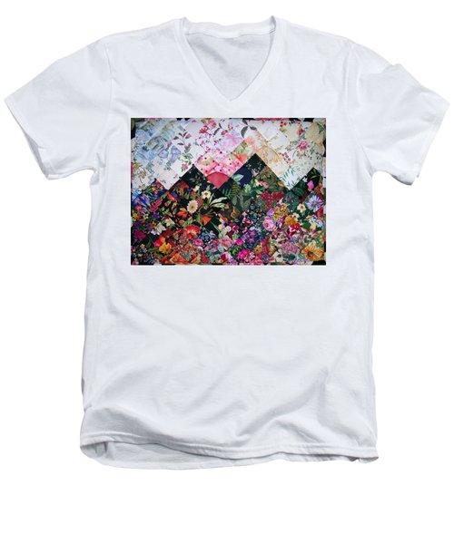 Watercolor Sunset Men's V-Neck T-Shirt