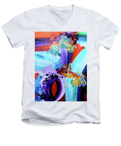 Watery Waves Men's V-Neck T-Shirt