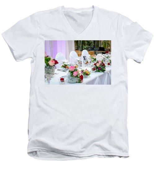 Wedding Table Men's V-Neck T-Shirt