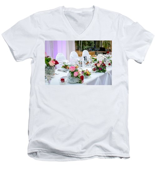 Wedding Table Men's V-Neck T-Shirt