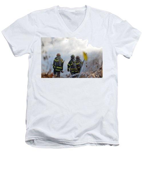 We're Going In Men's V-Neck T-Shirt