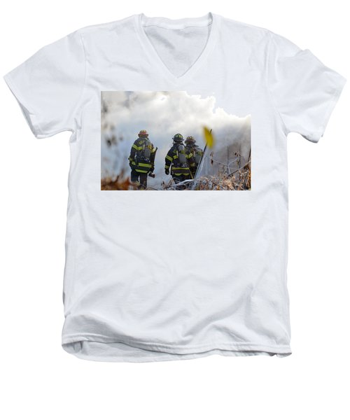 We're Going In Men's V-Neck T-Shirt