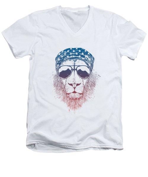 Wild Lion II Men's V-Neck T-Shirt