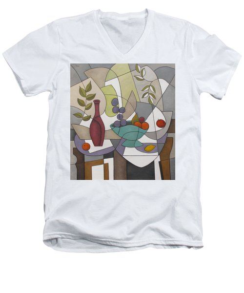 Wine And Fruit Men's V-Neck T-Shirt