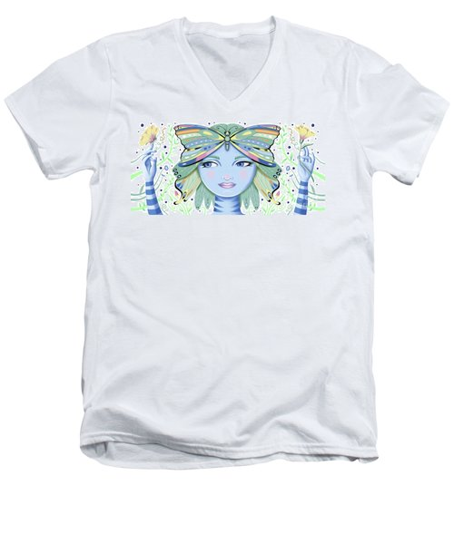 Insect Girl, Winga - White Men's V-Neck T-Shirt