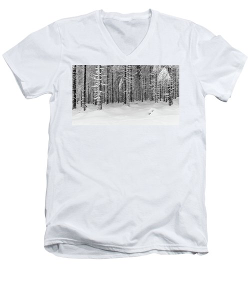 winter forest, Harz Men's V-Neck T-Shirt