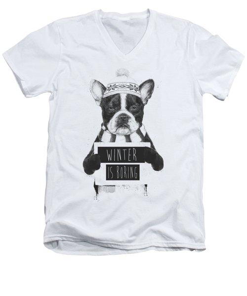 Winter Is Boring Men's V-Neck T-Shirt