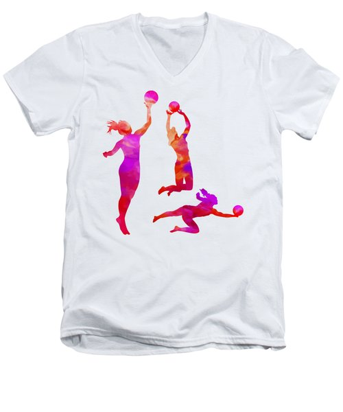 Volleyball Watercolor Canvas Print, Photographic Print, Art Print, Framed Print,iphone Case, Men's V-Neck T-Shirt