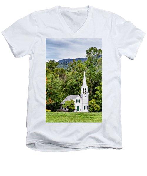 Wonalancet Union Chapel Men's V-Neck T-Shirt