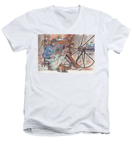 Working Cotton The Old Fashioned Way Men's V-Neck T-Shirt