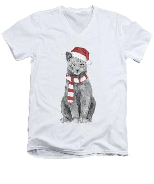 Xmas Cat Men's V-Neck T-Shirt