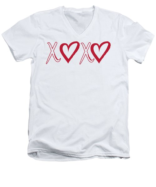 Xoxo, Hugs And Kisses, Men's V-Neck T-Shirt
