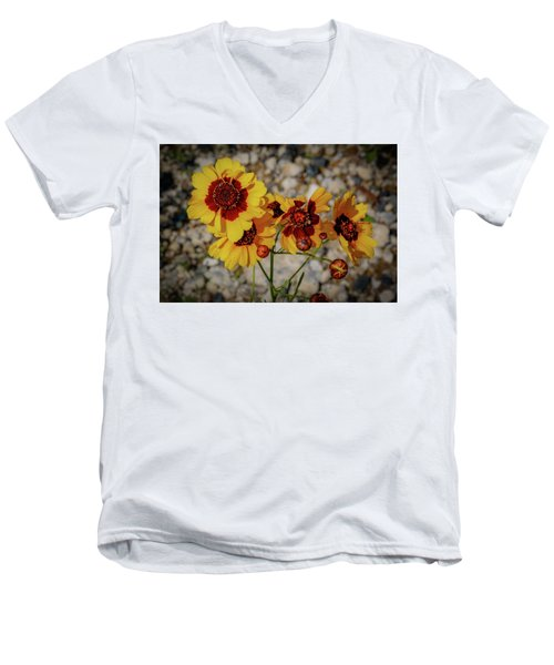 Yellow Wildflowers Men's V-Neck T-Shirt