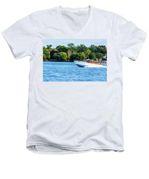Yes Its A Chris Craft Men's V-Neck T-Shirt