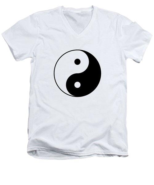 Yin And Yang Men's V-Neck T-Shirt