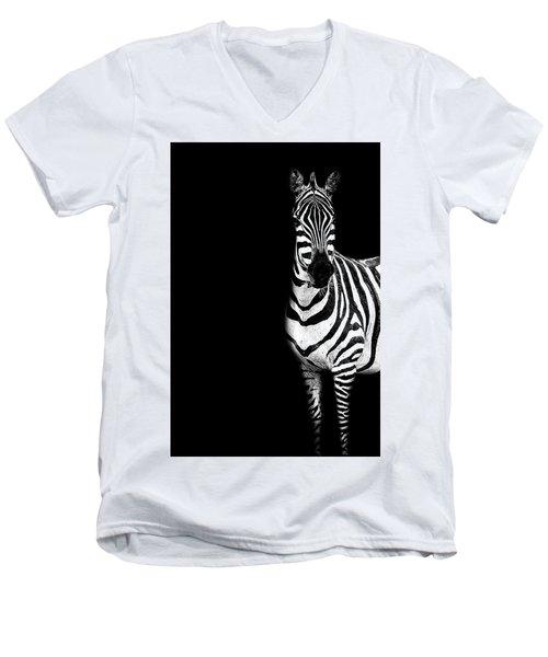 Zebra Drama Men's V-Neck T-Shirt