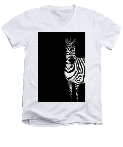 Zebra Drama Men's V-Neck T-Shirt