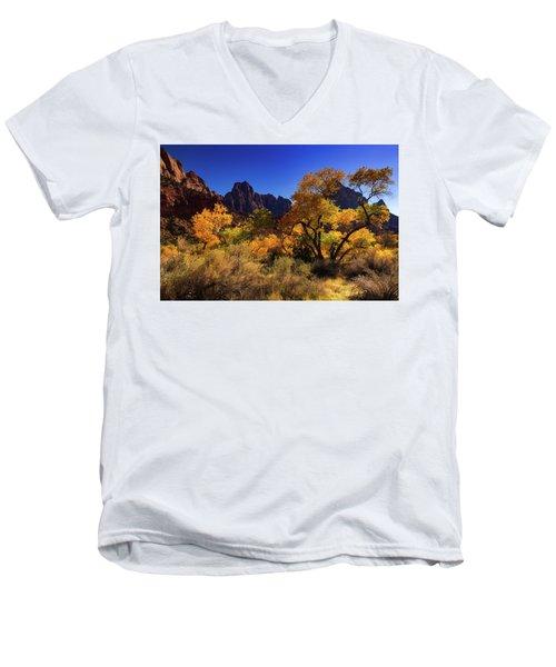 Zions Beauty Men's V-Neck T-Shirt