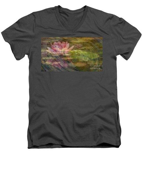 A Splash Of Lily Men's V-Neck T-Shirt by PainterArtist FIN
