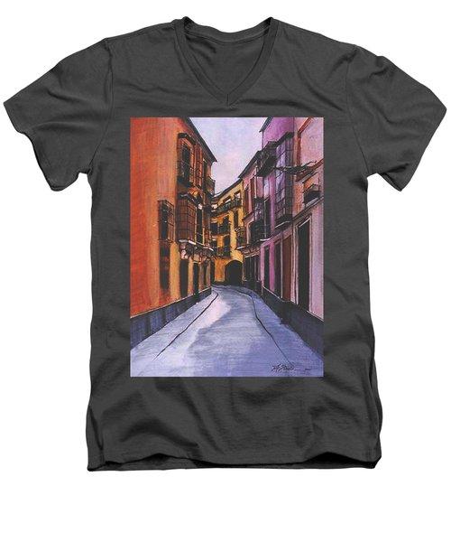 A Street In Seville Spain Men's V-Neck T-Shirt