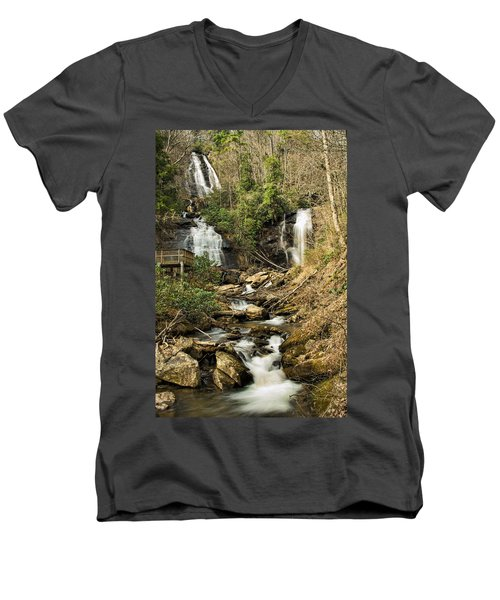 Amacola Falls Men's V-Neck T-Shirt