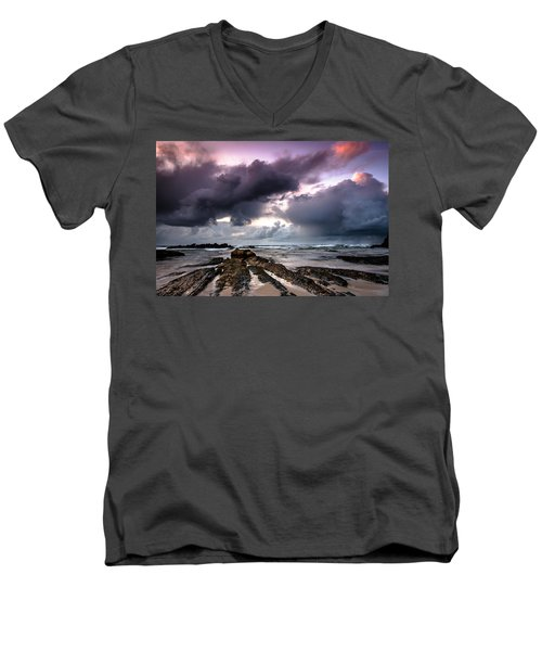 Around The World On A Boat Rock Men's V-Neck T-Shirt