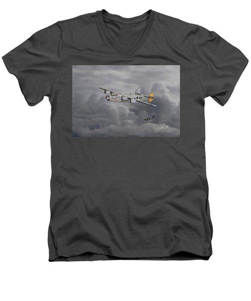 B24 Liberator  446th Bomb Group Men's V-Neck T-Shirt
