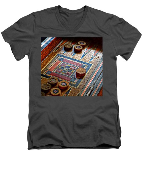 Backgammon Men's V-Neck T-Shirt
