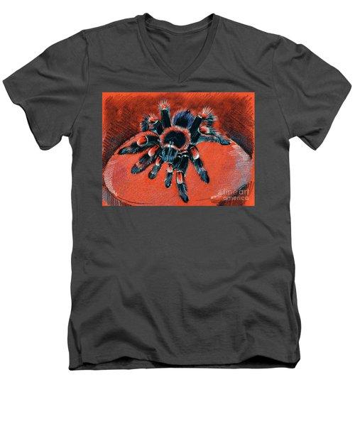 Brachypelma Smithi Redknee Tarantula  Men's V-Neck T-Shirt