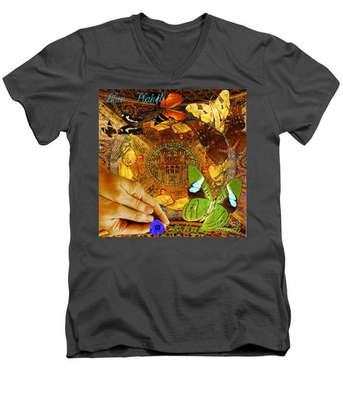 Civitate Dei   City Of God  Men's V-Neck T-Shirt by Joseph Mosley