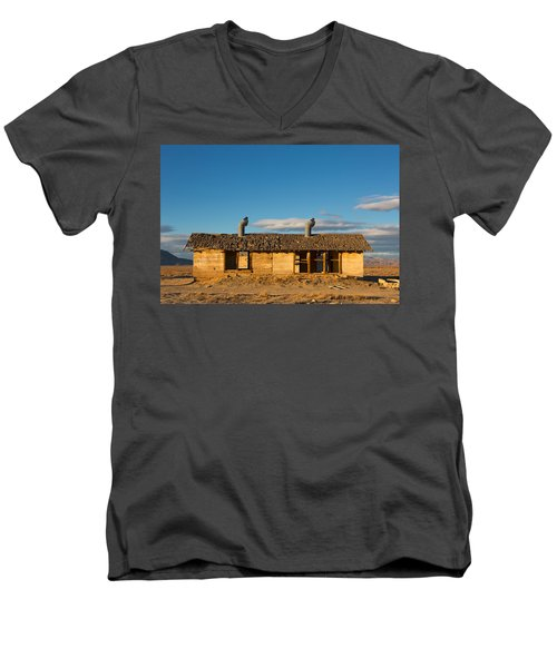 Derelict Shack. Men's V-Neck T-Shirt
