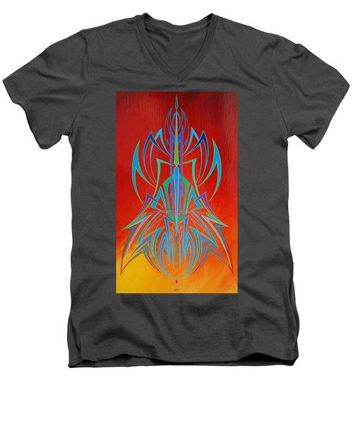 Desert Fire Storm Men's V-Neck T-Shirt