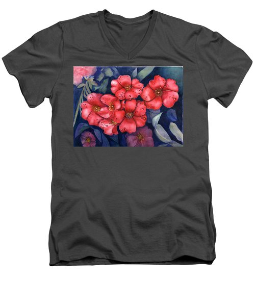 Dew Flowers Men's V-Neck T-Shirt