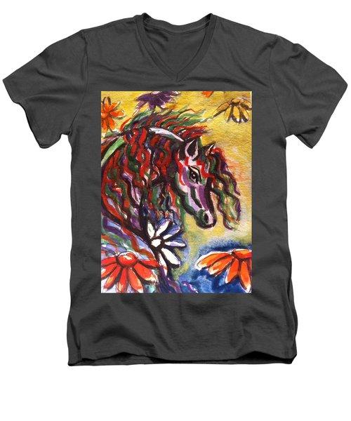 Dream Horse 2 Men's V-Neck T-Shirt by Hae Kim