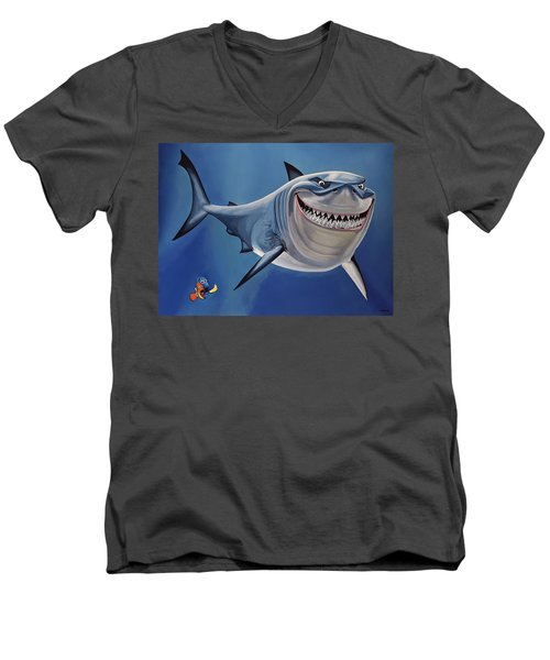 Finding Nemo Painting Men's V-Neck T-Shirt