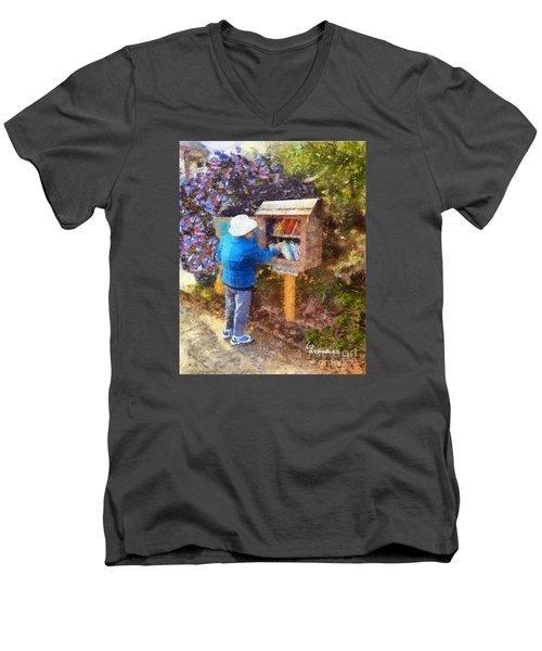 Alameda  Little Free Library Men's V-Neck T-Shirt