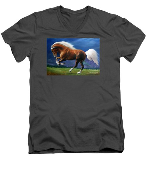 Magnificent Power And Motion Men's V-Neck T-Shirt by Vivien Rhyan