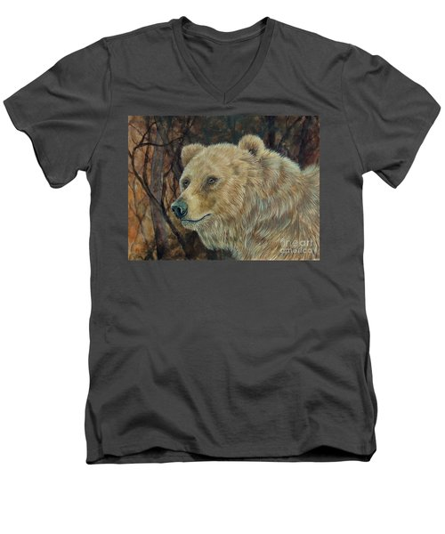 Out Of The Dark.  Men's V-Neck T-Shirt