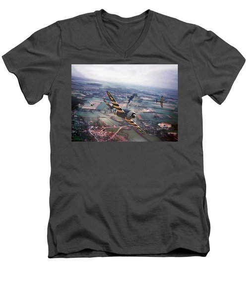 P47- D-day Train Busters Men's V-Neck T-Shirt