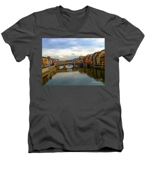 Ponte Vecchio's Padlocks Men's V-Neck T-Shirt