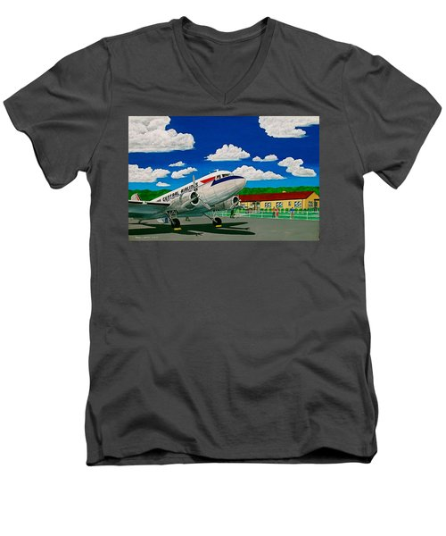 Portsmouth Ohio Airport And Lake Central Airlines Men's V-Neck T-Shirt