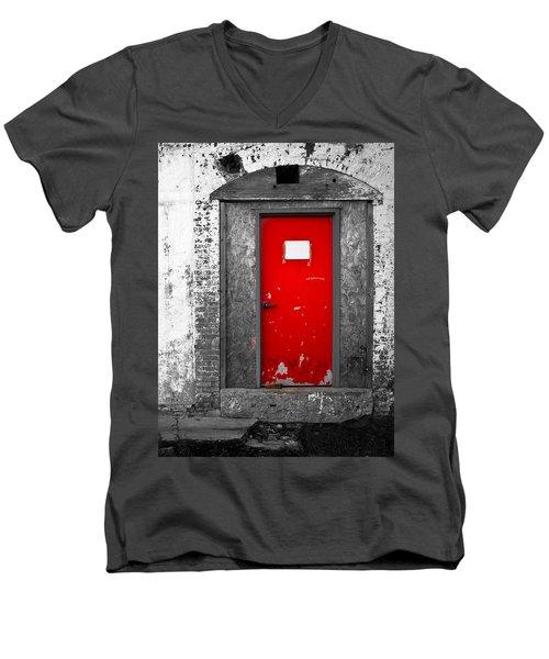 Red Door Perception Men's V-Neck T-Shirt