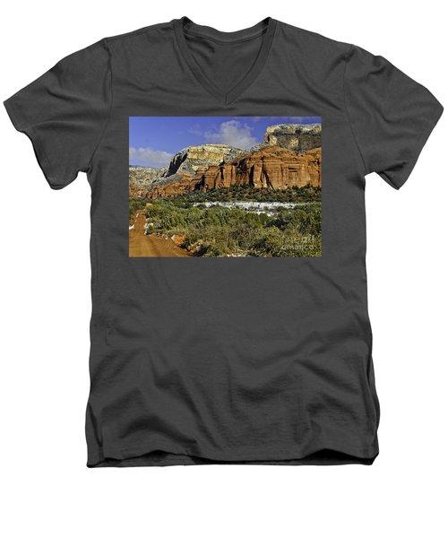 Red Rock-secret Mountain Wilderness Men's V-Neck T-Shirt