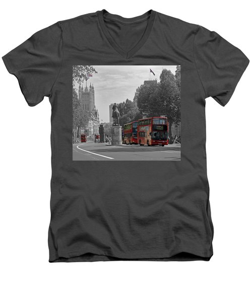 Routemaster London Buses Men's V-Neck T-Shirt