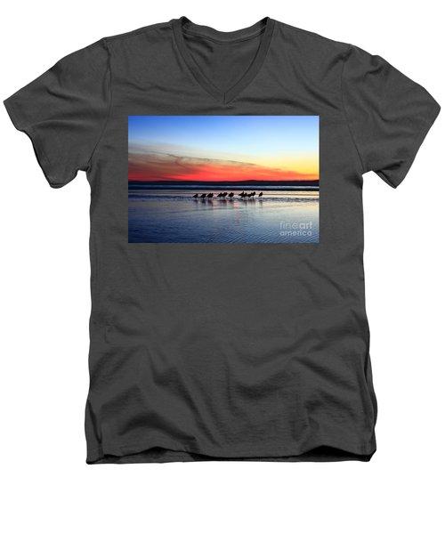 Shorebird Sunset Men's V-Neck T-Shirt
