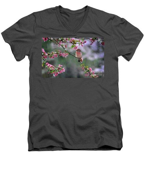 Singing In The Rain  2   Men's V-Neck T-Shirt by Nava Thompson