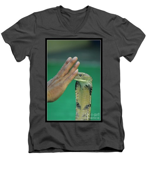 Stay Away Men's V-Neck T-Shirt by Michelle Meenawong